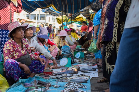 Marché local - Stung Treng, Cambodge
