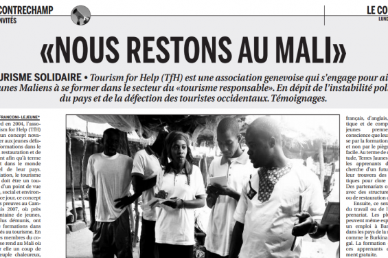 Nous restons au Mali, Journal Courrier
