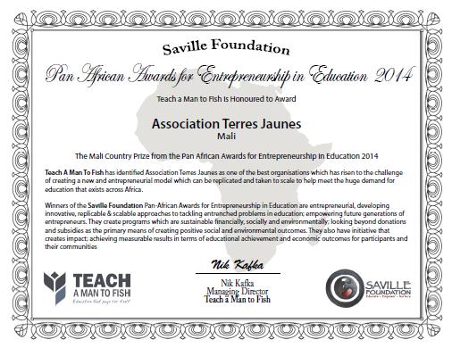 Certificat TJ-Teach a man to fish