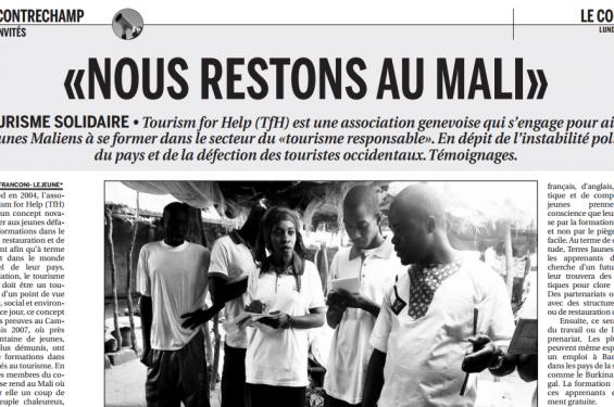 Nous restons au Mali, Journal Courrier