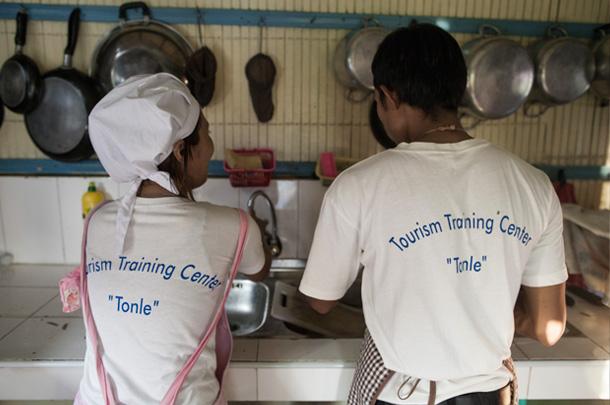 Le Tonlé, hôtel d'application au Cambodge