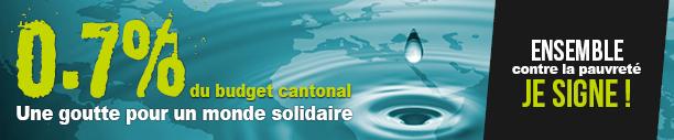 0,7% du budget cantonal
