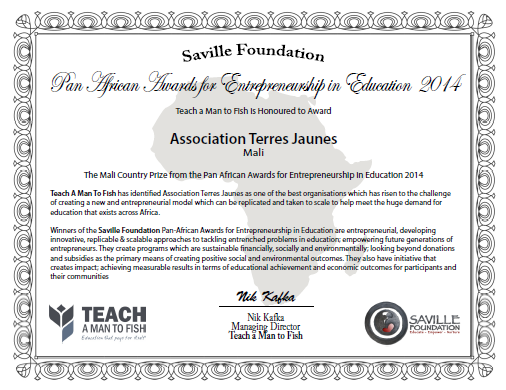 Certificat TJ-Teach a man to fish